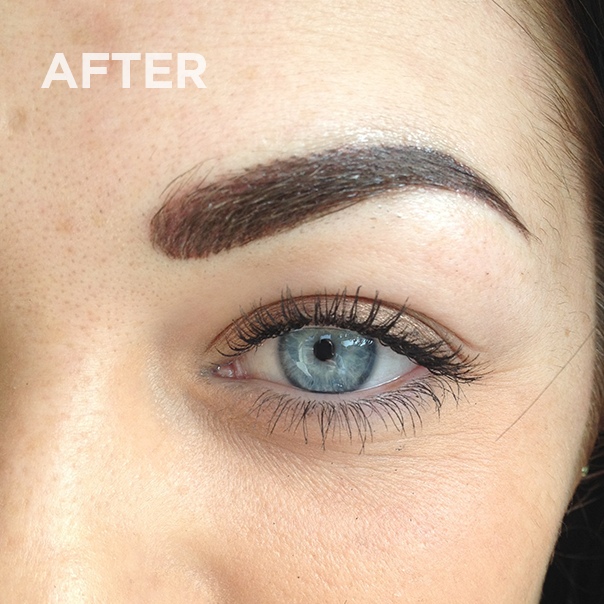 Eyebrows after permanent makeup