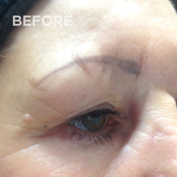 Eyebrows before permanent makeup correction