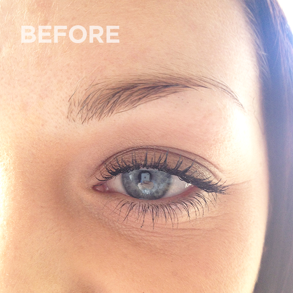 Eyebrows before permanent makeup