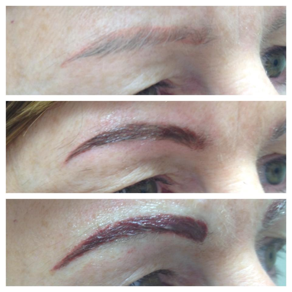 Permanent makeup correction - brows