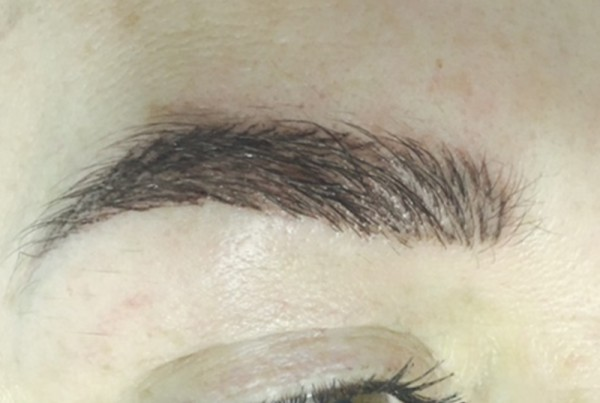 Fluffy hair stroke brows, permanent makeup