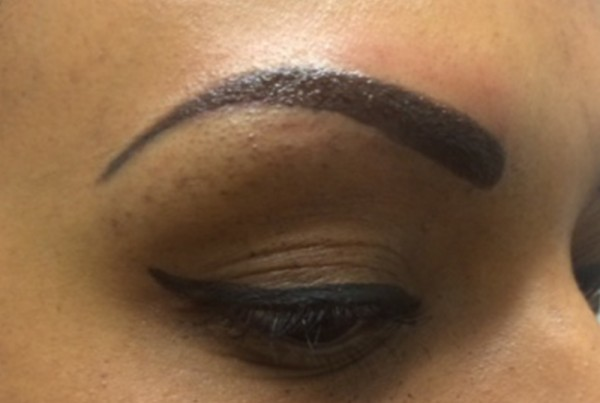Powdered-effect permanent brows, Leeds