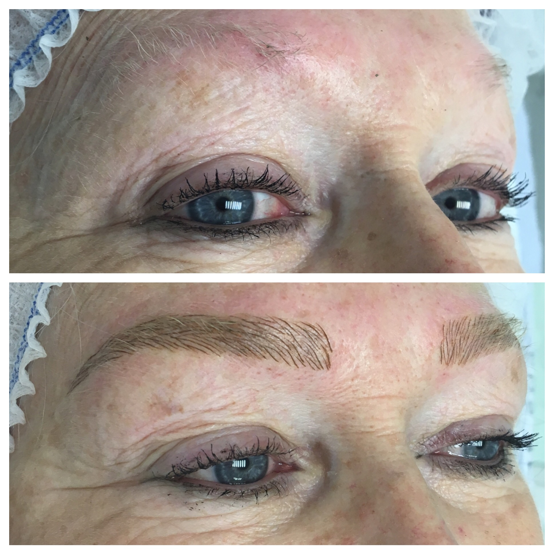 Permanent Makeup: Hairstroke eyebrows using microblading