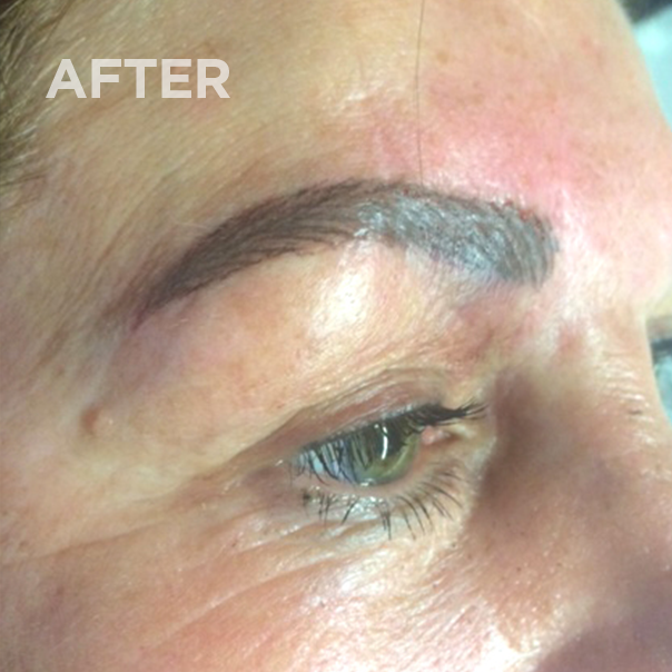 Eyebrows after permanent makeup correction