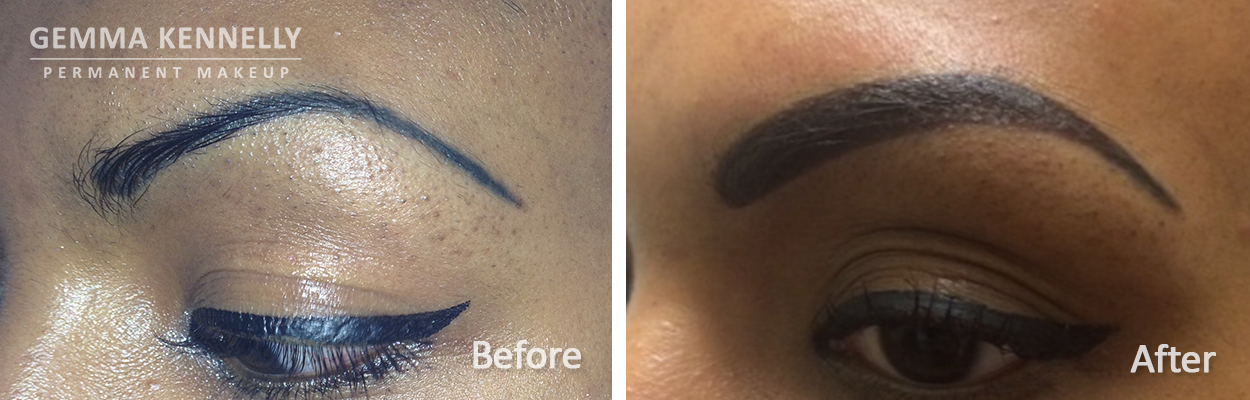 Powdered Effect Eyebrows Correction Eyebrows Permanent Makeup