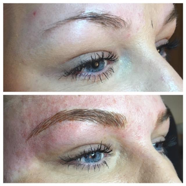 Permanent Makeup: Hairstroke eyebrows using microblading